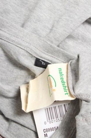Мъжка тениска Nakedshirt, Размер L, Цвят Сив, Памук, Цена 24,05лв.