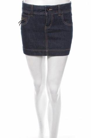 Пола Vero Moda, Размер S, Цвят Син, 80% памук, 18% полиестер, 2% еластан, Цена 7,13лв.