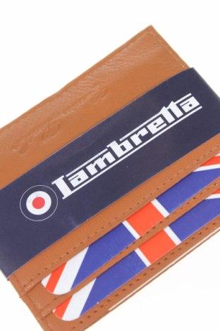 Πορτοφόλι επαγγελματικών καρτών Lambrella, Χρώμα Καφέ, Γνήσιο δέρμα, δερματίνη, Τιμή 19,77€