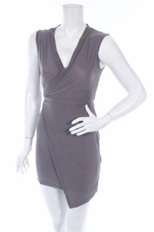 Šaty  Boohoo, Veľkosť S, Farba Sivá, 95% polyester, 5% elastan, Cena  7,89€