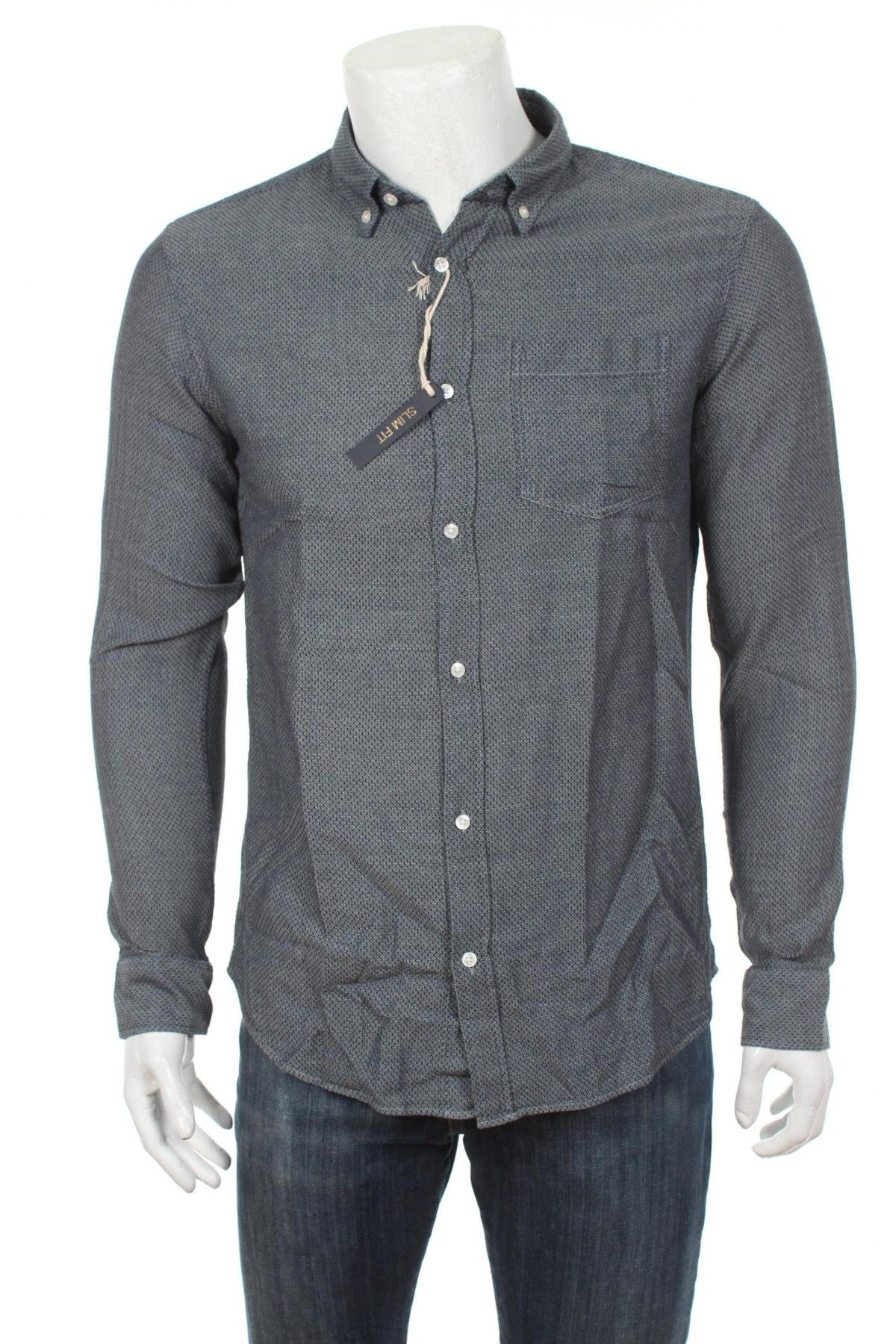Pánska košeľa  Premium By Jack & Jones, Veľkosť M, Farba Sivá, 100% bavlna, Cena  25,13€
