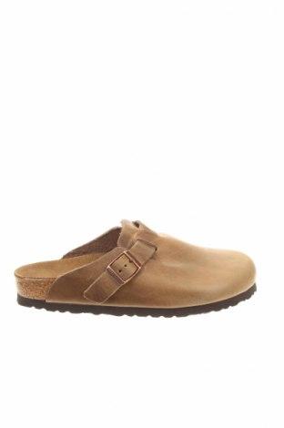 Papuci de casă Birkenstock, Mărime 39, Culoare Maro, Piele naturală, Preț 274,48 Lei