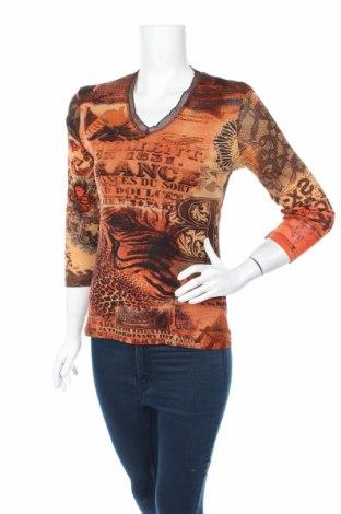 Дамска блуза Clara Vitti, Размер S, Цвят Кафяв, Цена 4,73лв.