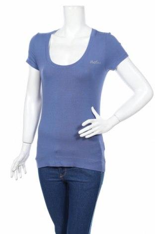 Дамска тениска Liu Jo, Размер M, Цвят Син, 95% вискоза, 5% еластан, Цена 24,57лв.
