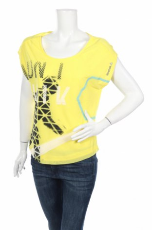 Дамска блуза Reebok, Размер S, Цвят Жълт, 65% полиестер, 35% памук, Цена 20,08лв.