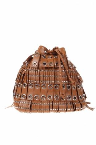 Γυναικεία τσάντα Mango, Χρώμα Καφέ, Δερματίνη, Τιμή 11,46€