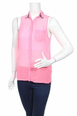 Дамска риза Cool Cat, Размер S, Цвят Розов, Полиестер, Цена 4,20лв.