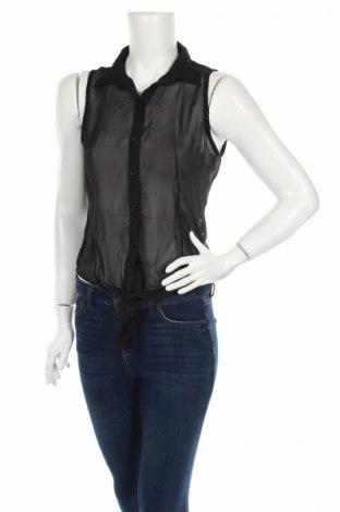 Дамска риза Derek Heart, Размер M, Цвят Черен, Полиестер, Цена 4,46лв.