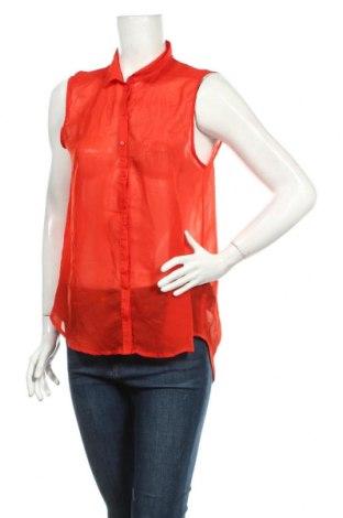 Дамска риза H&M, Размер L, Цвят Червен, Полиестер, Цена 3,94лв.