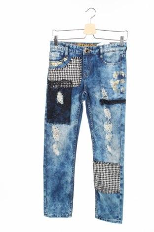 Dámské džíny  Desigual, Rozměr XS, Barva Modrá, Bavlna, Cena  904,00Kč