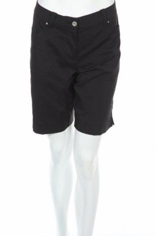 Дамски къс панталон Abacus, Размер L, Цвят Черен, 46% полиестер, 4% еластан, Цена 33,92лв.