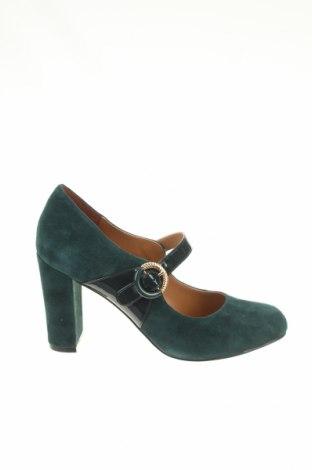 Dámske topánky  Mint & Berry, Veľkosť 38, Farba Zelená, Prírodný velur , Cena  33,19€