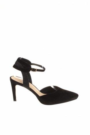 Γυναικεία παπούτσια Pier One, Μέγεθος 40, Χρώμα Μαύρο, Φυσικό σουέτ, Τιμή 28,30€