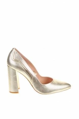 Γυναικεία παπούτσια Zign, Μέγεθος 39, Χρώμα Χρυσαφί, Γνήσιο δέρμα, Τιμή 29,92€