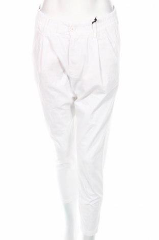 Γυναικείο παντελόνι Drykorn for beautiful people, Μέγεθος L, Χρώμα Λευκό, 97% βαμβάκι, 3% ελαστάνη, Τιμή 28,76€