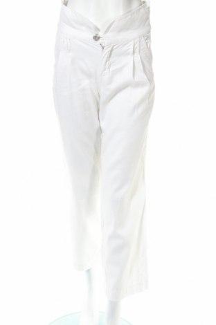 Дамски панталон Massimo Dutti, Размер S, Цвят Бял, 58% лен, 42% памук, Цена 55,58лв.