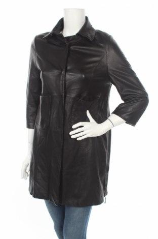 Δερμάτινο γυναικείο παλτό, Μέγεθος XL, Χρώμα Μαύρο, Γνήσιο δέρμα, Τιμή 10,57€