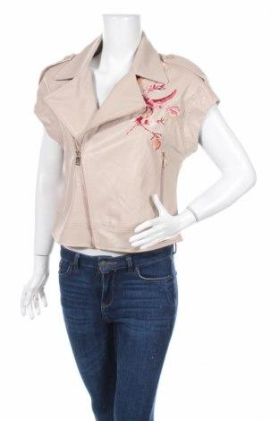 Γυναικείο δερμάτινο μπουφάν Motivi, Μέγεθος S, Χρώμα Ρόζ , Δερματίνη, Τιμή 8,54€