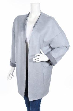 Γυναικείο παλτό Zara, Μέγεθος L, Χρώμα Μπλέ, 88% πολυεστέρας, 12% ελαστάνη, Τιμή 10,39€