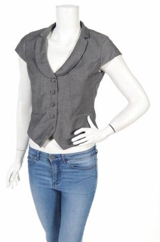 Дамско сако H&M, Размер M, Цвят Сив, 78% полиестер, 20% вискоза, 2% еластан, Цена 27,04лв.