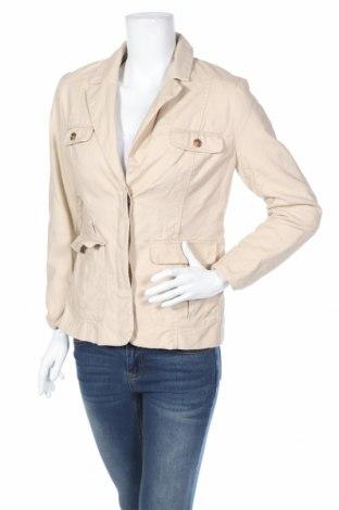 Дамско сако H&M, Размер M, Цвят Бежов, 98% памук, 2% еластан, Цена 18,08лв.