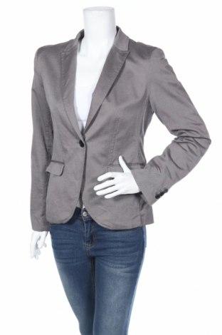 Дамско сако H&M, Размер L, Цвят Сив, 98% памук, 2% еластан, Цена 25,60лв.