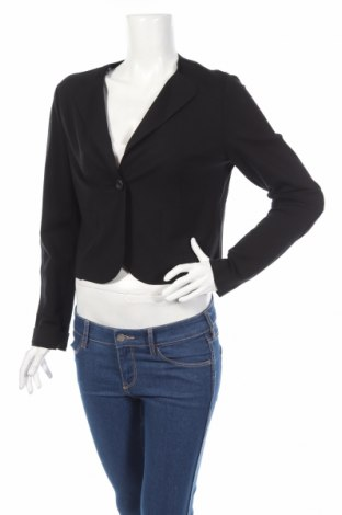 Дамско сако Motivi, Размер M, Цвят Черен, 59% вискоза, 28% полиамид, 3% еластан, Цена 59,04лв.