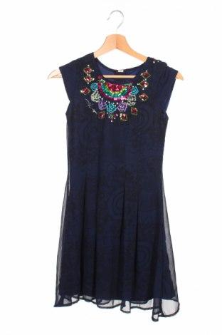 Gyerek ruha Desigual, Méret 10-11y / 146-152 cm, Szín Kék, Poliészter, Ár 5472 Ft