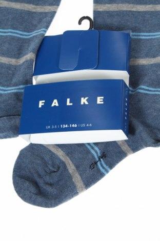 Детски спортни чорапи Falke, Размер 9-10y/ 140-146 см, Цвят Син, 77% памук, 22% полиамид, 1% еластан, Цена 21,76лв.