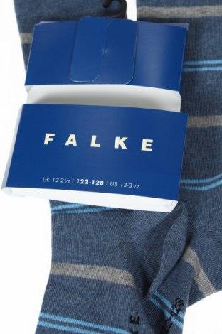 Детски спортни чорапи Falke, Размер 6-7y/ 122-128 см, Цвят Син, 77% памук, 22% полиамид, 1% еластан, Цена 21,76лв.