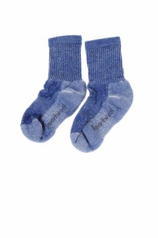 Детски спортни чорапи Smartwool, Размер 4-5y/ 110-116 см, Цвят Син, 58% вълна, 39% полиамид, 3% еластан, Цена 12,72лв.
