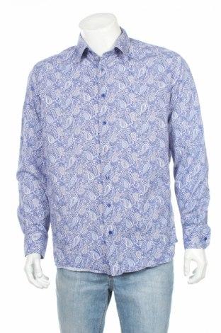 Мъжка риза Eterna, Размер L, Цвят Син, Памук, Цена 39,20лв.
