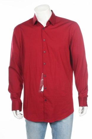 Мъжка риза Jake*s, Размер XL, Цвят Червен, Памук, Цена 40,60лв.