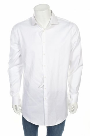 Мъжка риза Jake*s, Размер XL, Цвят Бял, Памук, Цена 37,80лв.