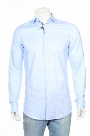Мъжка риза Jake*s, Размер S, Цвят Син, 97% памук, 3% еластан, Цена 37,80лв.