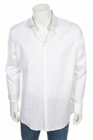 Мъжка риза Jake*s, Размер XL, Цвят Бял, Памук, Цена 36,40лв.