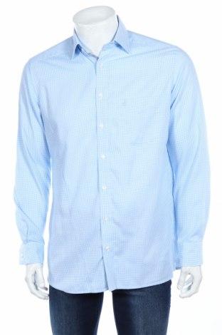 Мъжка риза Olymp, Размер M, Цвят Син, Памук, Цена 39,20лв.