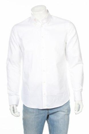 Мъжка риза Selected Homme, Размер S, Цвят Бял, 98% памук, 2% еластан, Цена 37,20лв.