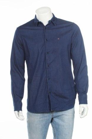 Мъжка риза Tommy Hilfiger, Размер M, Цвят Син, 95% памук, 5% еластан, Цена 56,00лв.