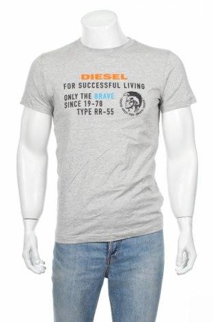 Tricou de bărbați Diesel, Mărime S, Culoare Gri, Bumbac, Preț 62,01 Lei