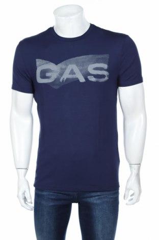 Tricou de bărbați Gas, Mărime L, Culoare Albastru, 95% bumbac, 5% elastan, Preț 70,74 Lei