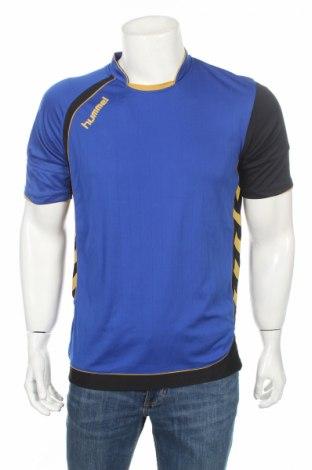 Ανδρικό t-shirt Hummel, Μέγεθος M, Χρώμα Μπλέ, Πολυεστέρας, Τιμή 2,60€