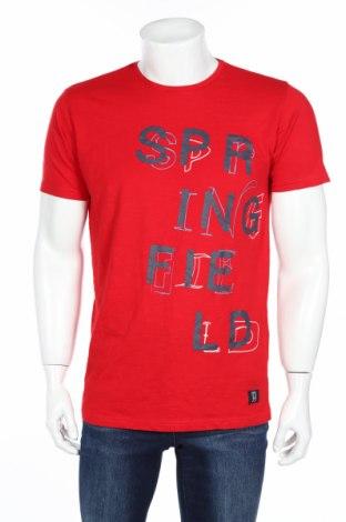 Férfi póló Springfield, Méret M, Szín Piros, Pamut, Ár 2880 Ft