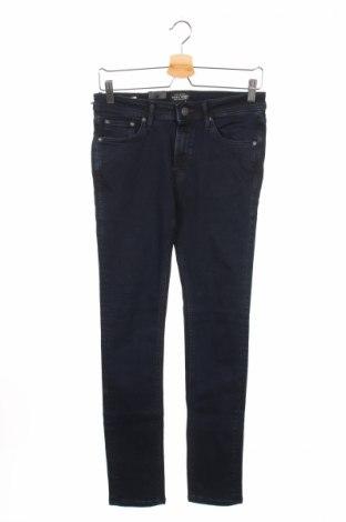Мъжки дънки Jack & Jones, Размер S, Цвят Син, 90% памук, 10% еластан, Цена 16,00лв.