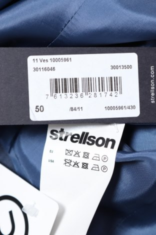 Мъжки елек Strellson, Размер L, Цвят Син, 80% вълна, 10% полиамид, Цена 90,35лв.
