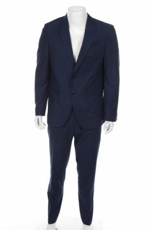 Мъжки костюм Christian Berg, Размер L, Цвят Син, 75% полиестер, 23% вискоза, 2% еластан, Цена 108,36лв.