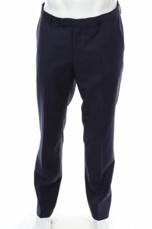 Pánské kalhoty  Hugo Boss, Rozměr L, Barva Modrá, Vlna, Cena  1126,00Kč
