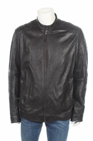 Мъжко кожено яке Boss Orange, Размер XL, Цвят Черен, Естествена кожа, Цена 249,12лв.