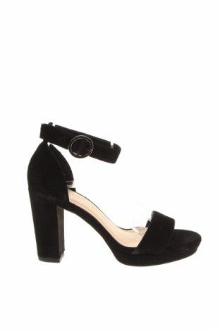 Sandale Pier One, Mărime 36, Culoare Negru, Velur natural, Preț 170,16 Lei