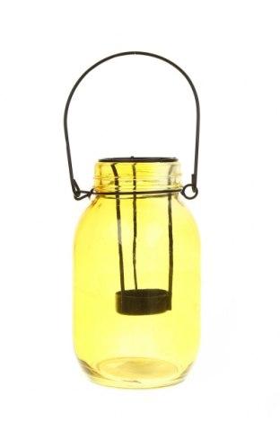 Свещник фенер, Цвят Жълт, Стъкло, Цена 14,80лв.
